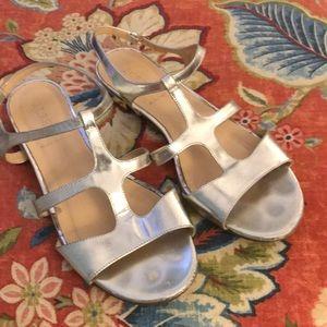 J Crew Allie Gladiator sandals Silver metallic 7.5